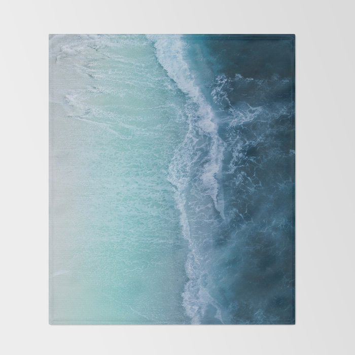 Turquoise Sea Throw Blanket