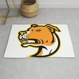 American Staffordshire Terrier Head Mascot Rug