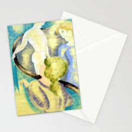Oskar Schlemmer Three Figures on a Stairway Stationery Cards