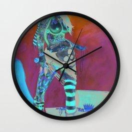 Merciless Tattooed Pirate queen  Wall Clock
