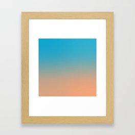 Blue/Orange Contrast Framed Art Print