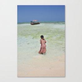 Girl in Zanzibar Canvas Print