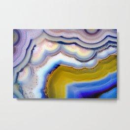 Rainbow Agate geode slice #2018 Metal Print