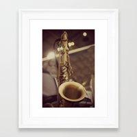 saxophone Framed Art Prints featuring Saxophone by KimberosePhotography