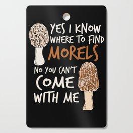 Morel Hunting design for a Mushroom Hunter Cutting Board