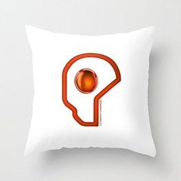 Futuristic Cyborg Logo 5 Throw Pillow