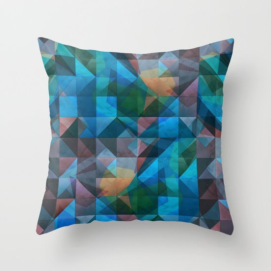 triangular shapes of power Throw Pillow