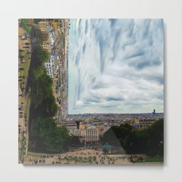 Surreal Paris Metal Print