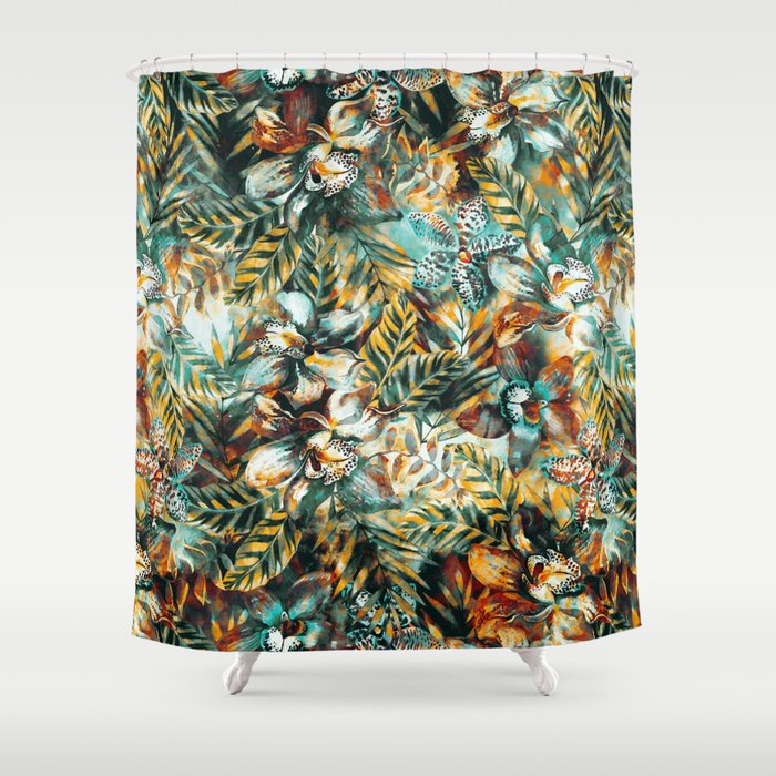 TROPICAL ISLAND Shower Curtain By Valentinasevza