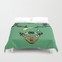 will graham Duvet Covers featuring Shiizakana by Huebucket