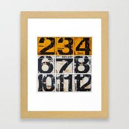 numbers des. 4 Framed Art Print