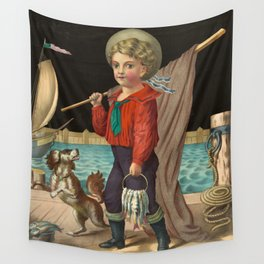 The pride of the harbor, 1874 Wall Tapestry