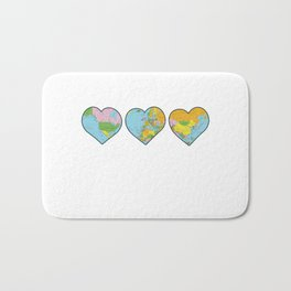 Heart Map Bath Mat