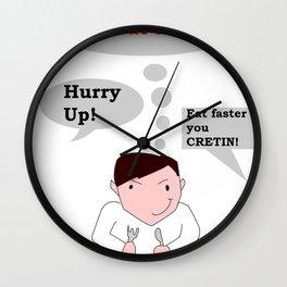 Slow Eating Elf Wall Clock