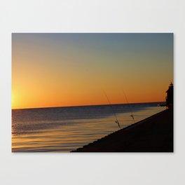 Sunset Fishing Canvas Print