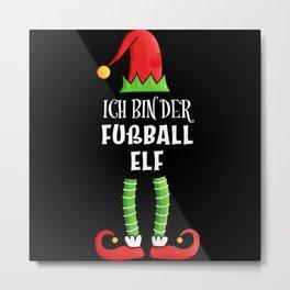 Fußball Elf Partnerlook Weihnachten Metal Print