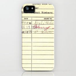 LibraryCard 510 Math Without Numbers iPhone Case