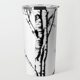 Silver Birch In Winter Travel Mug