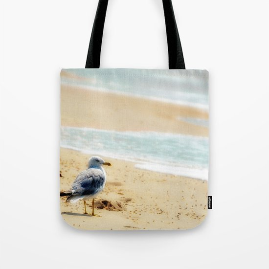 Lonely gull of summer. Tote Bag