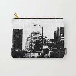 99 North in Black and White Carry-All Pouch