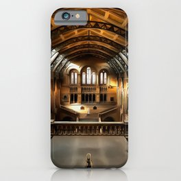 The Natural History Museum in London (Painting) iPhone Case