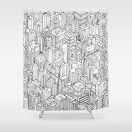 Isometric Urbanism pt.1 Shower Curtain