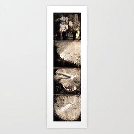 Black to white (full serie) Art Print