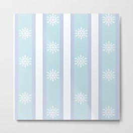Weiss Schnee pattern Metal Print