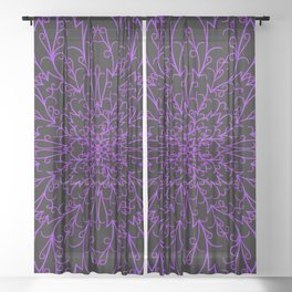 Violet Threads Sheer Curtain