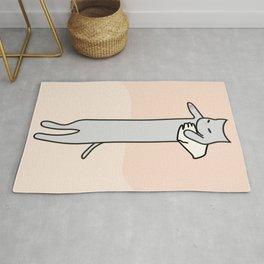 Long Cat Meme Pink Rug