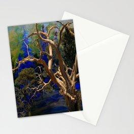 CONTEMPORARY BLUE  WILDERNESS ART  DESIGN Stationery Cards