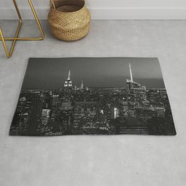 The Empire State and the city. Black & white photography Rug