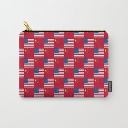 Mix of flag : usa and China Carry-All Pouch
