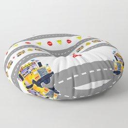 School Bus Fun Floor Pillow