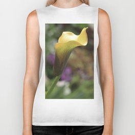 Yellow Calla Lily Biker Tank