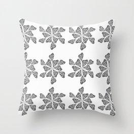 Butterfly Mandalas Throw Pillow