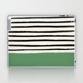 Moss Green x Stripes Laptop & iPad Skin