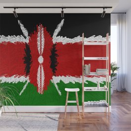 Extruded Flag of Kenya Wall Mural
