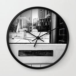 Roof Garden Door Wall Clock