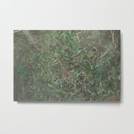 grass lawn texturized for background and texture Metal Print