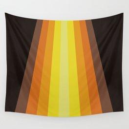 Retro Warm Tone 70's Stripes Wall Tapestry