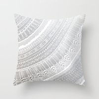 silver Throw Pillows featuring Silver by rskinner1122