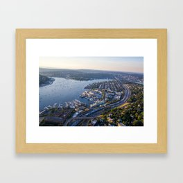 Seattle, City with Love Framed Art Print