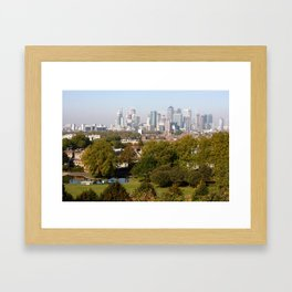 City of London from Greenwich Hill Framed Art Print
