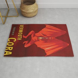 Vintage 1920's Vermouth Torino Cora Alcoholic Beverage Advertisement by Leonetto Cappiello Rug