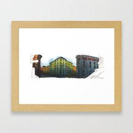 Viiskulma in Helsinki Framed Art Print