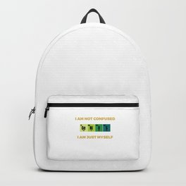 genius nerd geek Cool & Confusing Tshirt Design I am just myself Backpack