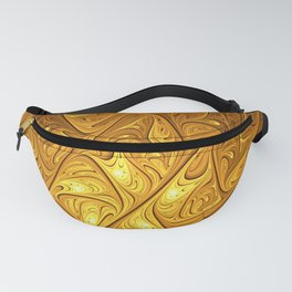 Abstract Art, Modern Fractal With Gold Fanny Pack