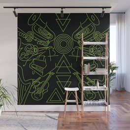 Neon Instruments Wall Mural