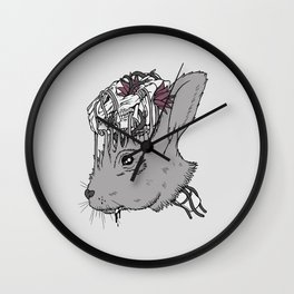 Lucky Rabbit's Head Wall Clock